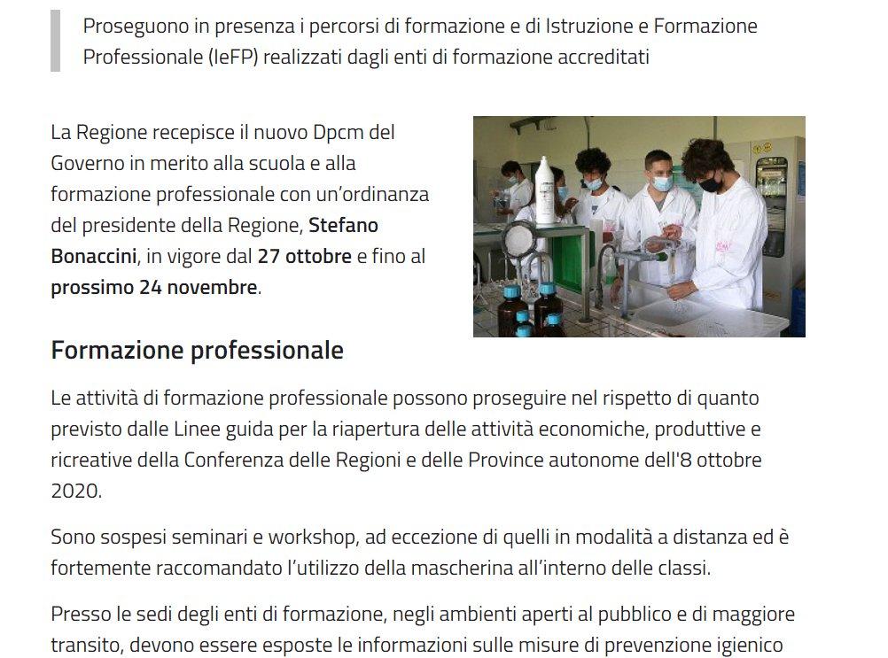 Regione Emilia-Romagna: #Formazione e #IeFP, la Regione recepisce il nuovo Dpcm  Le indicazioni qui: https://t.co/1VnEUuLTDT https://t.co/711fFhRrji