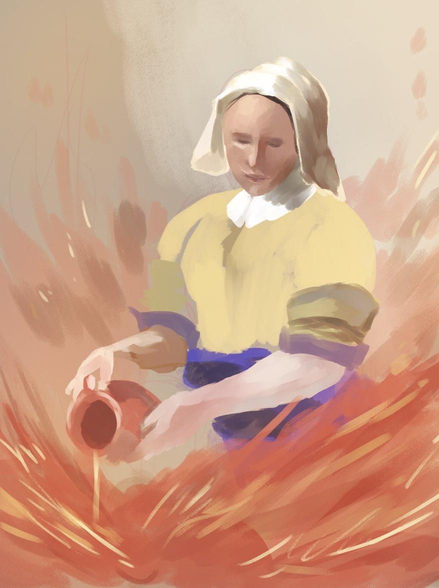 火に油を注ぐ女