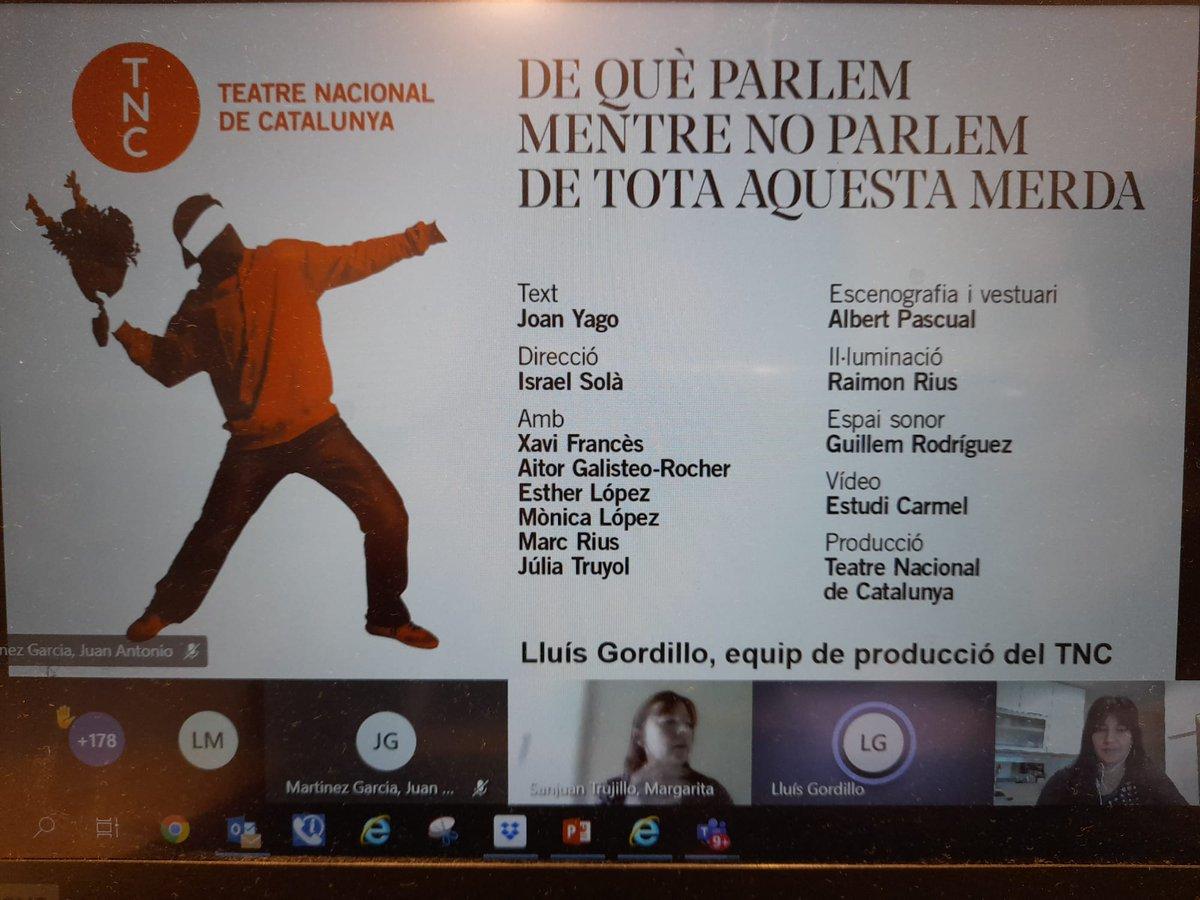 """Pel que fa als recomanats d'#artsescèniques, ha començat Lluís Gordillo del @teatrenacional explicant la gira de l'espectacle """"De què parlem mentre no parlem de tota aquesta merda"""" i, a continuació, les comissions assessores de #teatre🎭 i #dansa🩰 exposen les seves propostes https://t.co/7rQULpWSqT"""