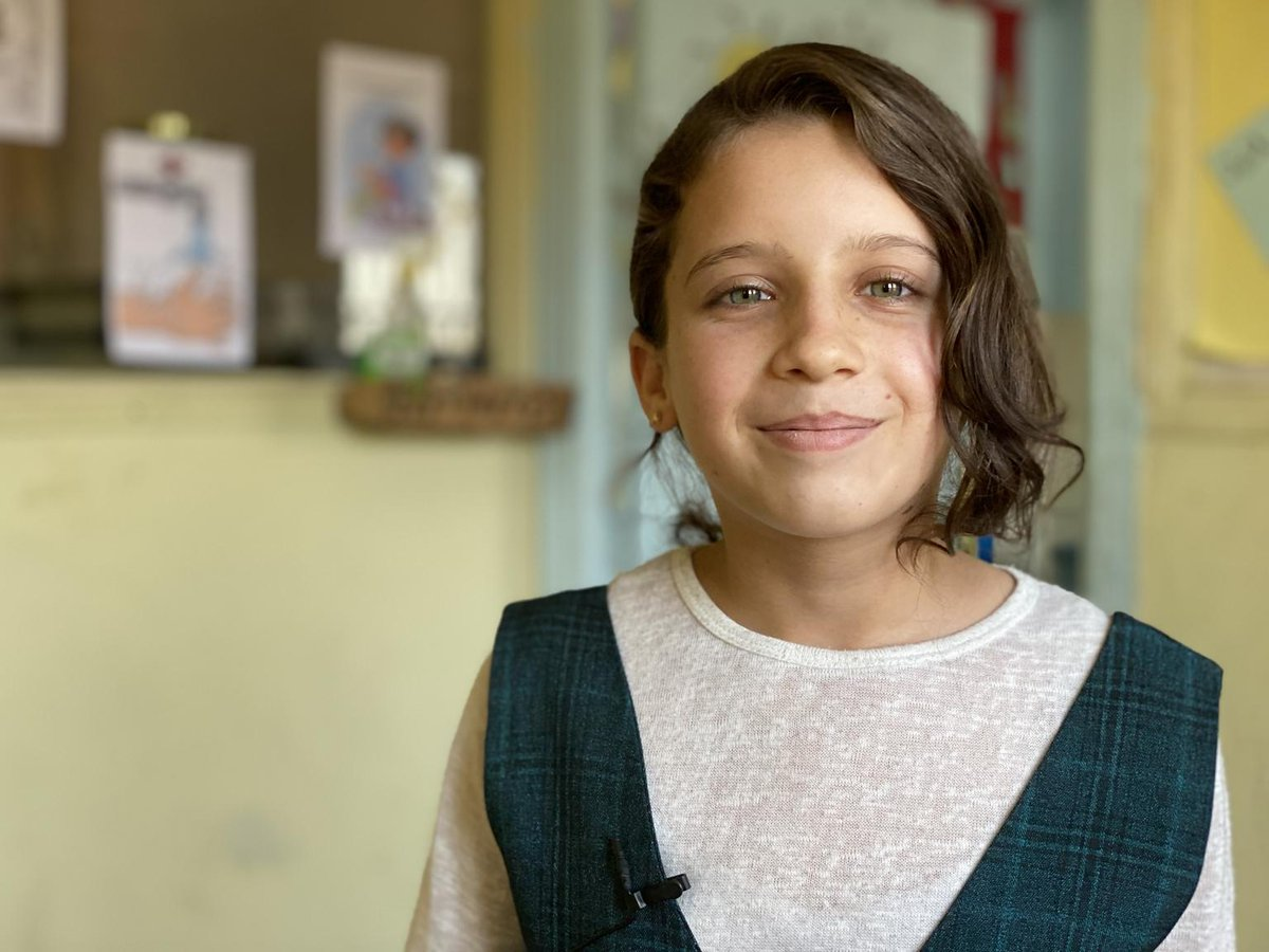 """Hanan, 11 , lives in Za'atari refugee camp, in March her school closed due to #covid19.   """"It was the most difficult time of my life"""" - Hanan says.   One billion children have seen their schools shut because of coronavirus.   Every child deserves an education.  #GenerationCovid"""