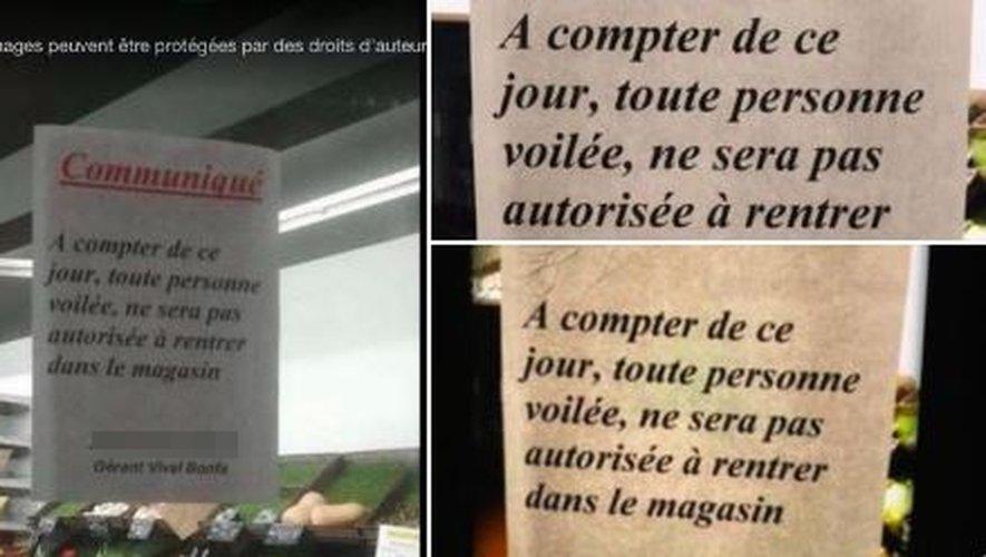 🔴 #Gard #Nîmes : un commerçant interdit l'accès à sa supérette aux femmes voilées en placardant une affiche https://t.co/YQo5s2Vkfk https://t.co/ndMech7yG2
