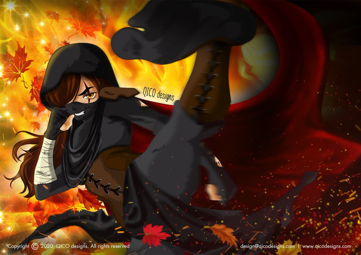 Kickboxer Black Ninja  Check out this illustration on my website: https://t.co/AK6PL9dGGF . . . #blackninja #woman #fighter #martialartist #martialarts #kungfu #mma #boxing #ninja #ninjagirl #fight #kickboxing #bjj #training #kickboxer #kick #digitalart #illustrator #animeart https://t.co/KOyFy2OUuP