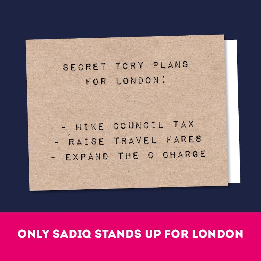 The Tories are trying to punish Londoners because they don't like our city, our values or our way of life.  Only @SadiqKhan is standing up for London. https://t.co/kYsFTEWgwx