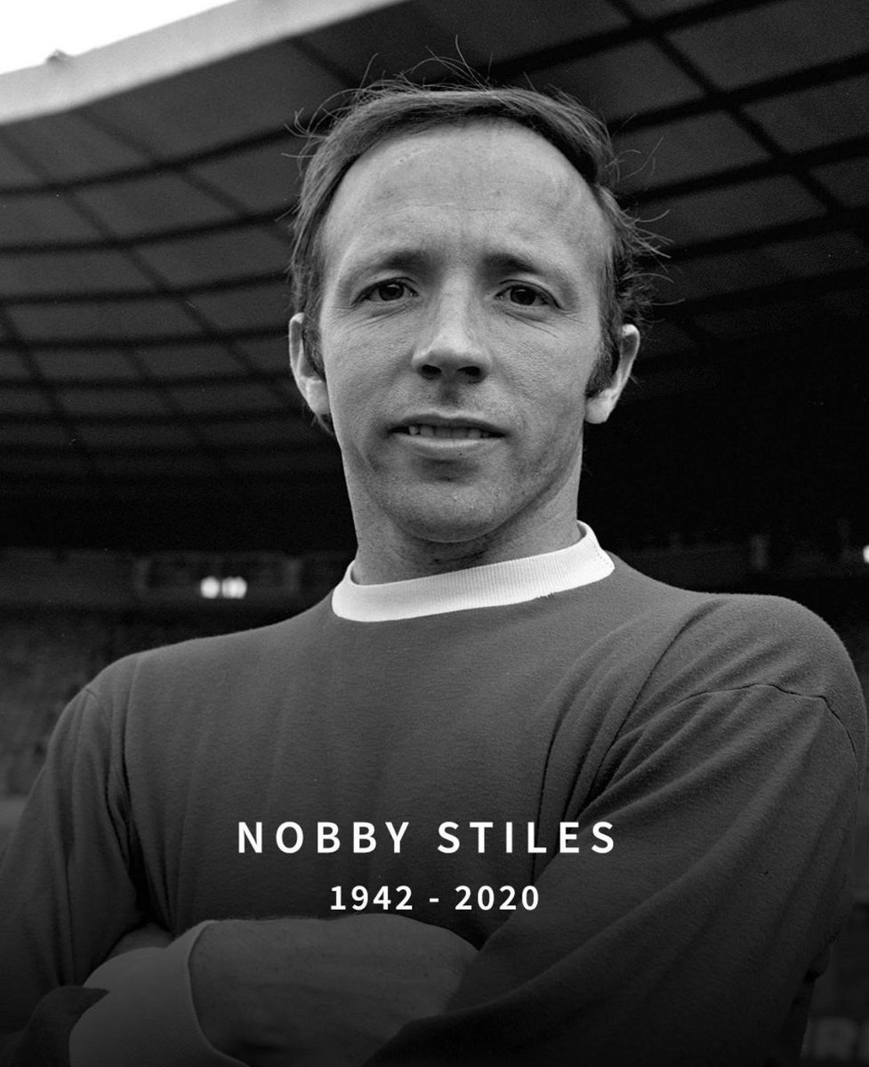 Sad day, a true @ManUtd and @England legend has passed away. RIP Nobby Stiles MBE ❤️