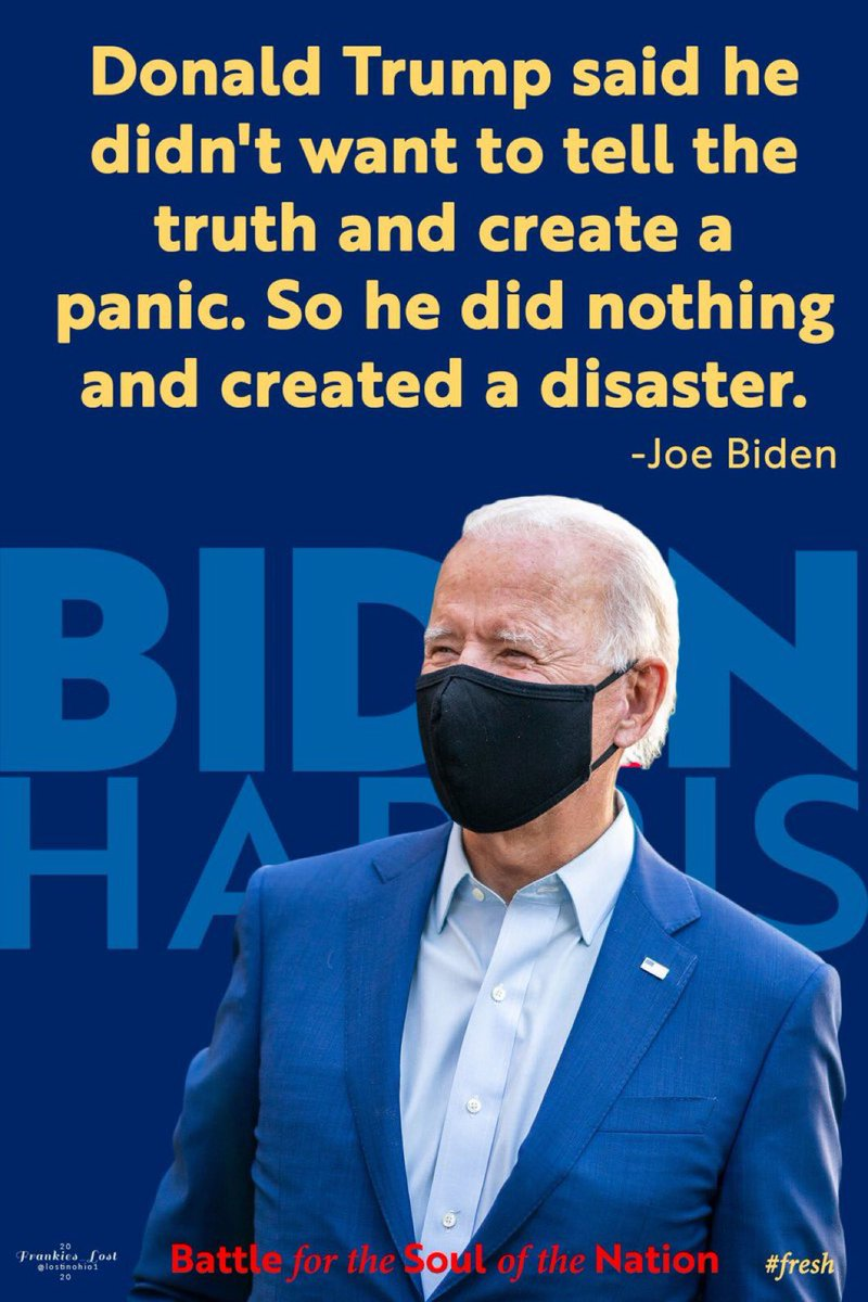 Pandemic was preventable, by Trump being truthful, acting in Jan & ignoring his agenda in favor of the country! Pandemic continues until we have a change of leadership! Vote for Biden & flip the Senate to save our nation! #wtpBiden #wtpBlue #DemVoice1 https://t.co/NfRWBm7pE5