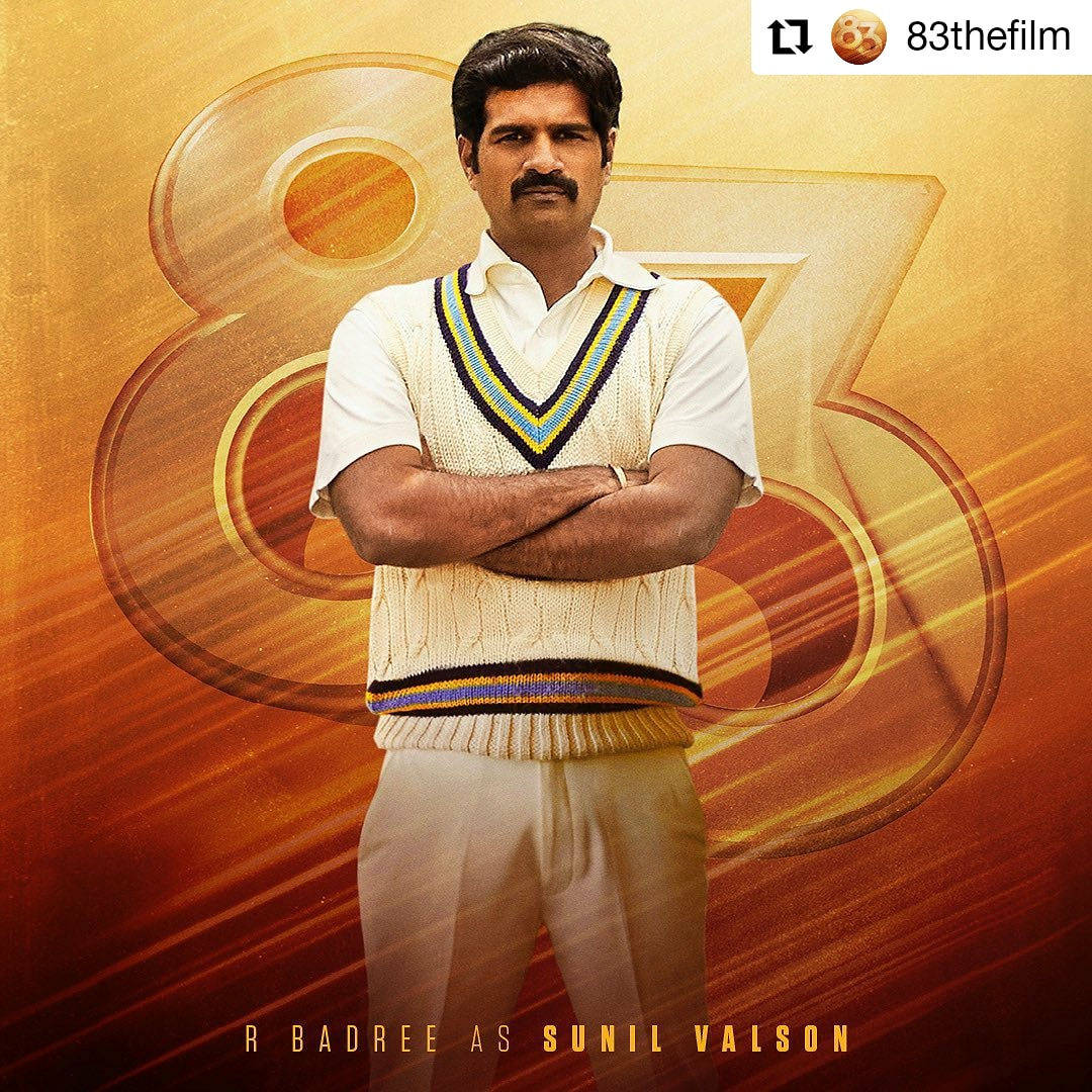 @83thefilm • • • • • • The left handed medium pacer. Vally was the support system for the team. Give it up for the last Devil #SunilValson. #ThisIs83 #83thefilm #RBadree