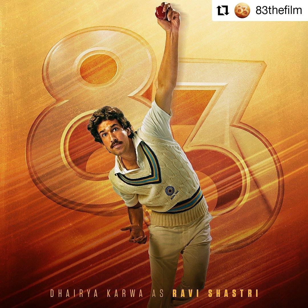 @83thefilm • • • • • •  The youngest player in the team. Presenting the flamboyant devil, @RaviShastriOfc ! #ThisIs83  #ravishastri  #dhairyakarwa
