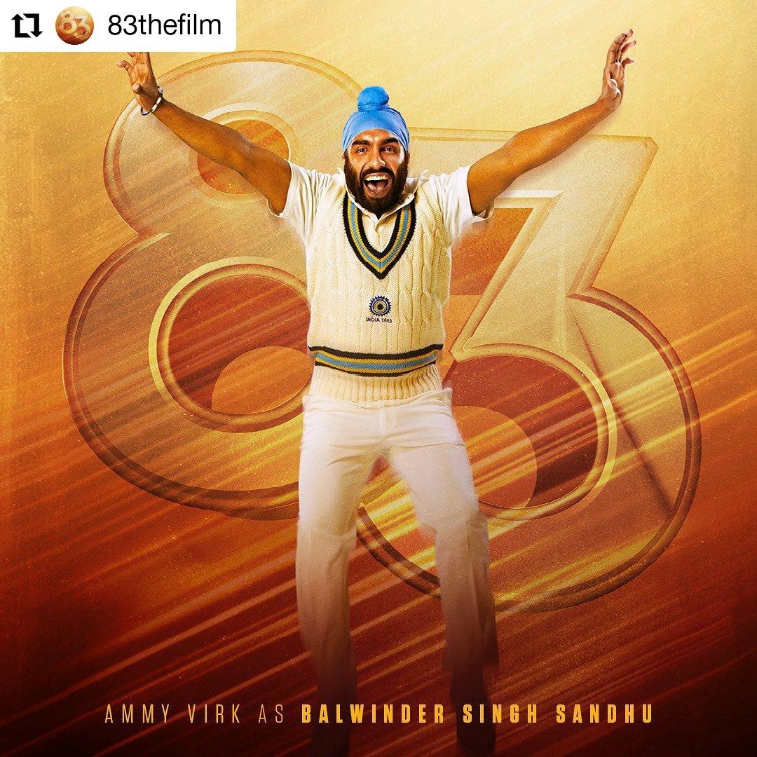 @83thefilm @AmmyVirk  • • • • • • Ballu Paaji ki Inswinger pe toh poora desh fida ho gaya tha! Presenting the next devil, #BalwinderSinghSandhu. #ThisIs83   #AmmyVirk