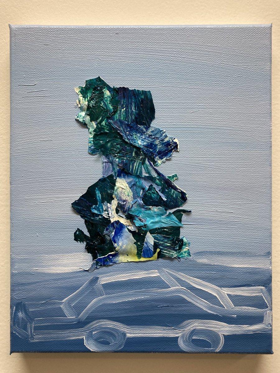 Low clouds, acrylic on canvas, 8x10 inches, by Julia Guzzio #contemporaryart #contemporaryartist #contemporarypainting #contemporarylandscape #juliaguzzio https://t.co/prTcW84RoK