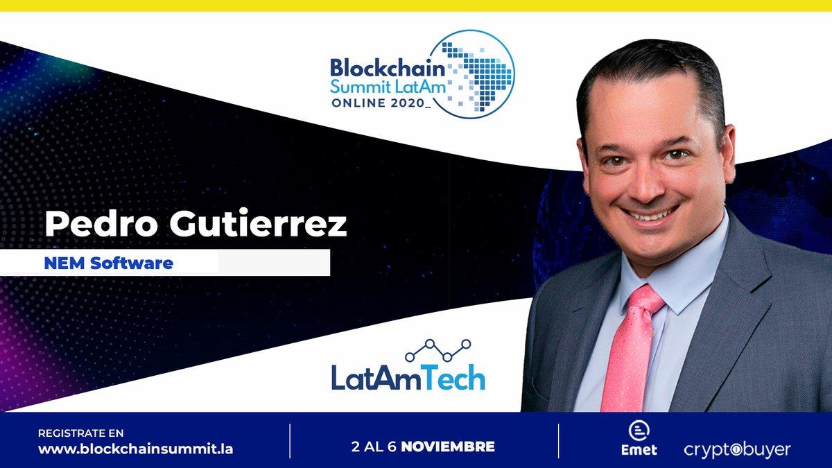 Come listen to #NEM Group Senior BDM Latam Pedro Gutierrez @pgutierrezqu speak at @BlockSummitLA November 2nd at 15:35 UTC -5 in the panel session - New protocols: What to improve from current ones. #BSLONLINE2020Register here: https://t.co/InfHYWox0C #XEM #XYM #BSLONLINE2020 https://t.co/VBRqIxCjOe