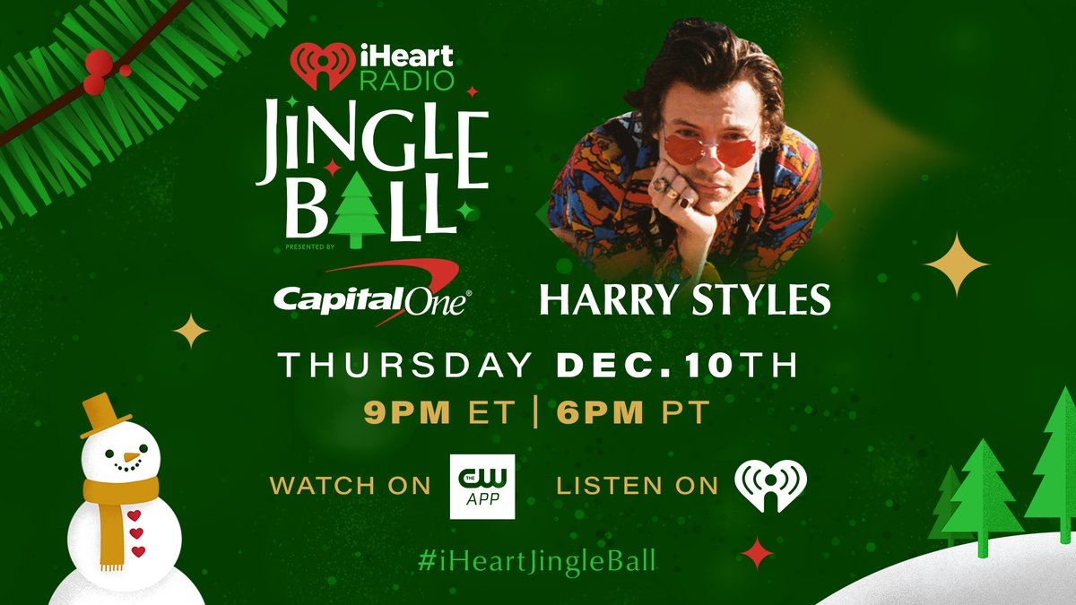 Harry will be performing at this year's @iHeartRadio Jingle Ball on December 10th.