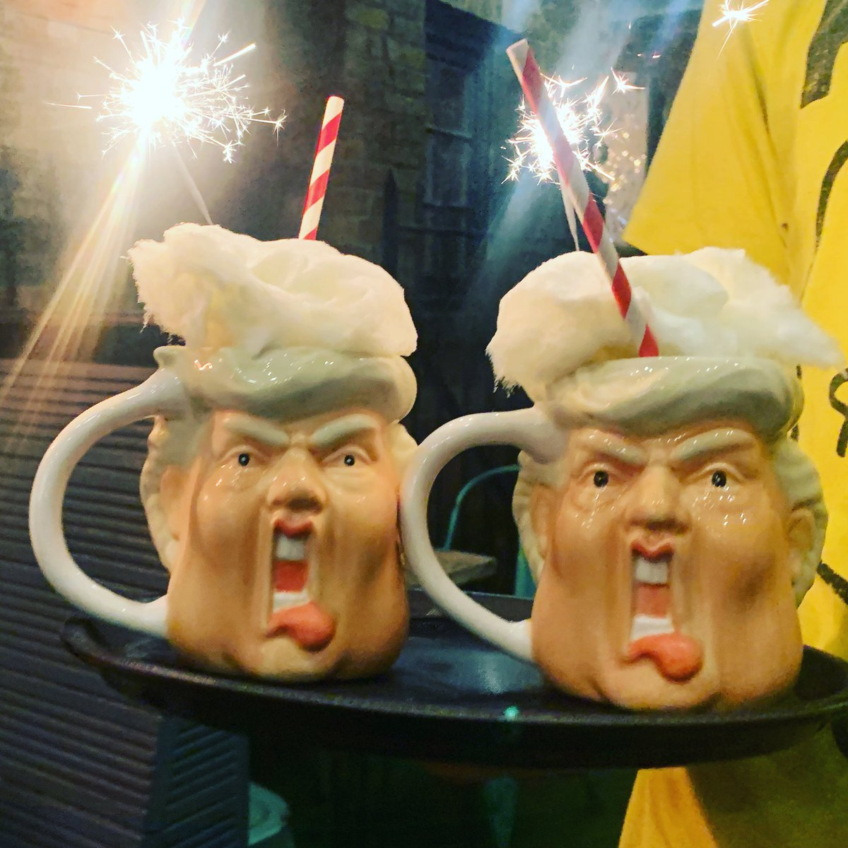 Celebrate the USA elections with an American Psycho: a celebration of the good, the bad and the ugly from the USA! With @TitosVodka, apple pie moonshine, peanut butter and even banana candyfloss! #trump #Halloween2020 https://t.co/oxMhkzXRqp