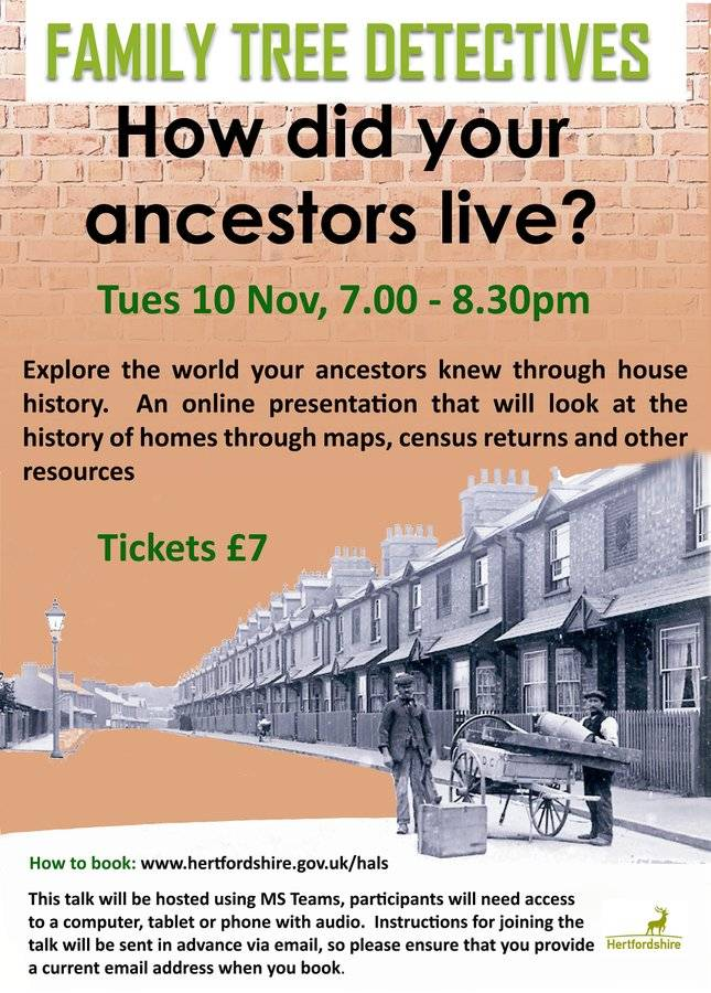 Find out how your ancestors lived in our online #familyhistory presentation with Q&A on 10 November.  Booking: https://t.co/atY9aqp27A  #ExploreYourArchive #HouseHistory #FamilyHistoryFriday https://t.co/5WLFVTsRT2