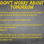 Image for the Tweet beginning: #worry #tomorrow #future #consumed #leave