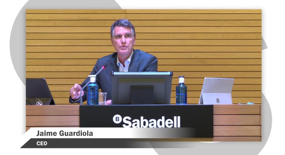 #ResultatsSabadell | El CEO de @BancSabadell, Jaume Guardiola, comença la presentació de resultats del tercer trimestre del 2020 de l'entitat 🔴 https://t.co/rBl22PEws6 #SerOnSiguis https://t.co/HwBCfcTZ3I