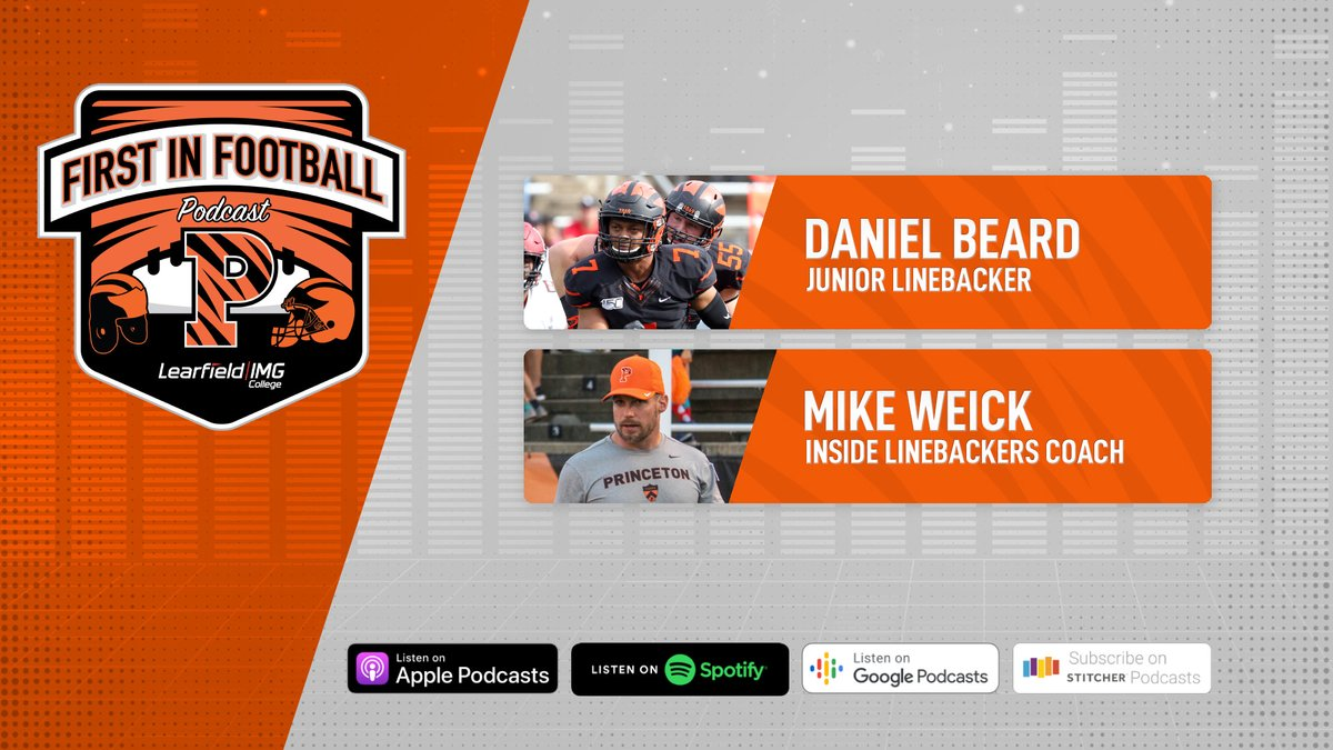 LB Friday! @CoachMikeWeick & Daniel Beard bring the 🔥to the latest episode of First In Football! 🔗: bit.ly/2HE2Xq3