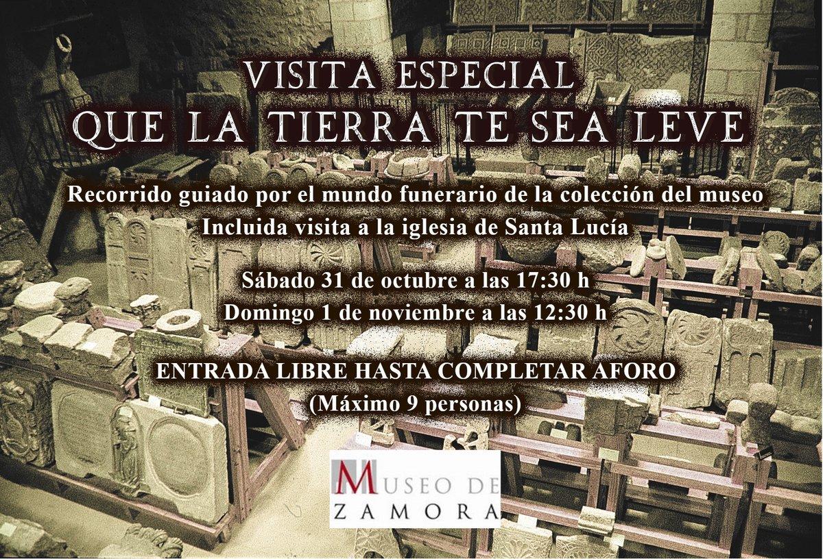 """Con motivo de la festividad de Todos los Santos, el #Museo de #Zamora organiza la visita guiada especial """"Que la tierra te sea leve""""   📆 sábado 31 de octubre a las 17:30h  📆 domingo 1 de noviembre a las 12:30h  🎟️ Entrada libre hasta completar aforo https://t.co/EhxJyDX8sV"""