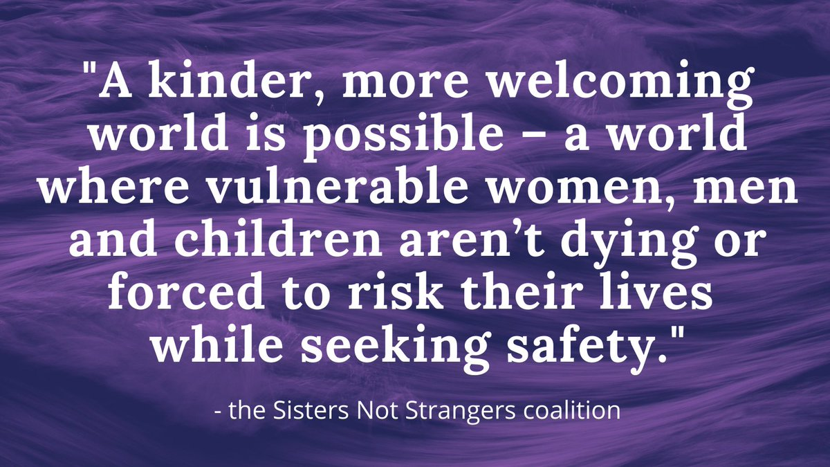 #SistersNotStrangers, a coalition of women who have experienced persecution and fled for their lives in search of safety, have written this response to the tragic deaths in the Channel this week.  Please read and share: