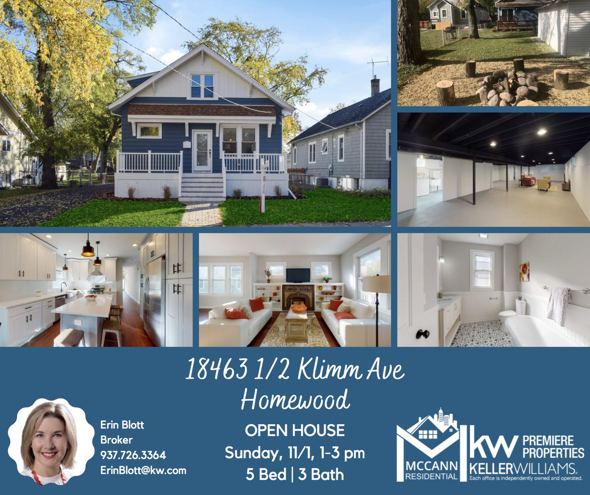 👀 Open House 👀 at this beautifully remodeled home this Sunday, 11/1, from 1-3 PM. You don't want to miss this one, the finishes are just gorgeous! 😍 5 Beds, 3 baths, and a rockin' 2.5 car garage! 🚗  #kellerwilliamspremiereproperties #mccannresidential #openhouse #sundayfunday https://t.co/D8SEUIPDEI