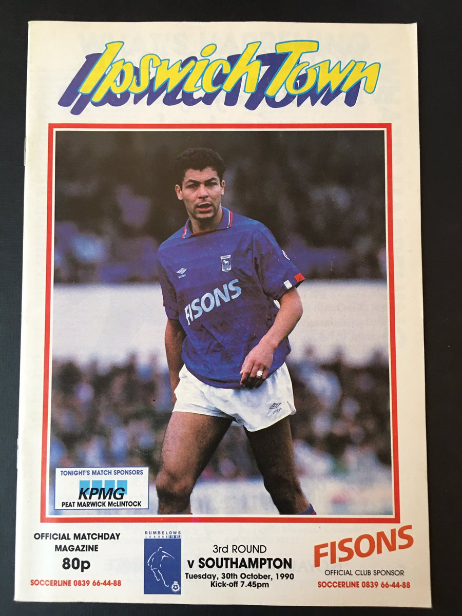 30 years ago | I was driving my yellow escort up the A12 to see a 2-0 Rumbelows Cup (look it up kids!) win at #IpswichTown   Stood on the terrace (look it up kids!) as @mattletiss7 & @RodWallacePSMG fired #SaintsFC into the next rd!  #OnThisDay #SaintsProgs #ITFC @ITFCMemorabila https://t.co/rc45FW9XQs