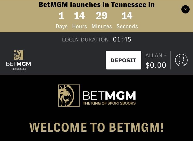 RT @AllanBell247: BetMGM will be live at 12:01am Sunday for Tennessee residents.   You can now register an account. https://t.co/9vJdcspZtq