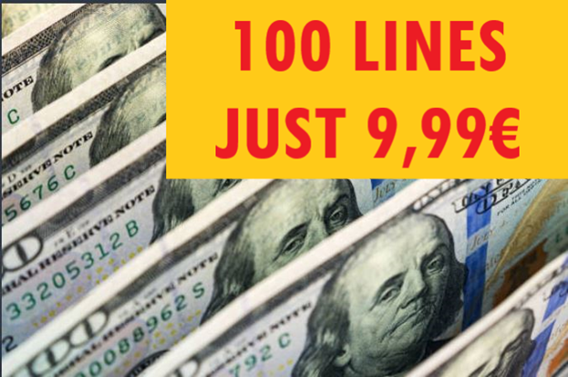 48 HR SALE >>>  100 LINES JUST 9,99€  <<< GET IT HERE >>> https://t.co/LEO1w6VWD6  #lotto #discountlotto #onlinelotto #powerball https://t.co/xZ7YZTOXSl