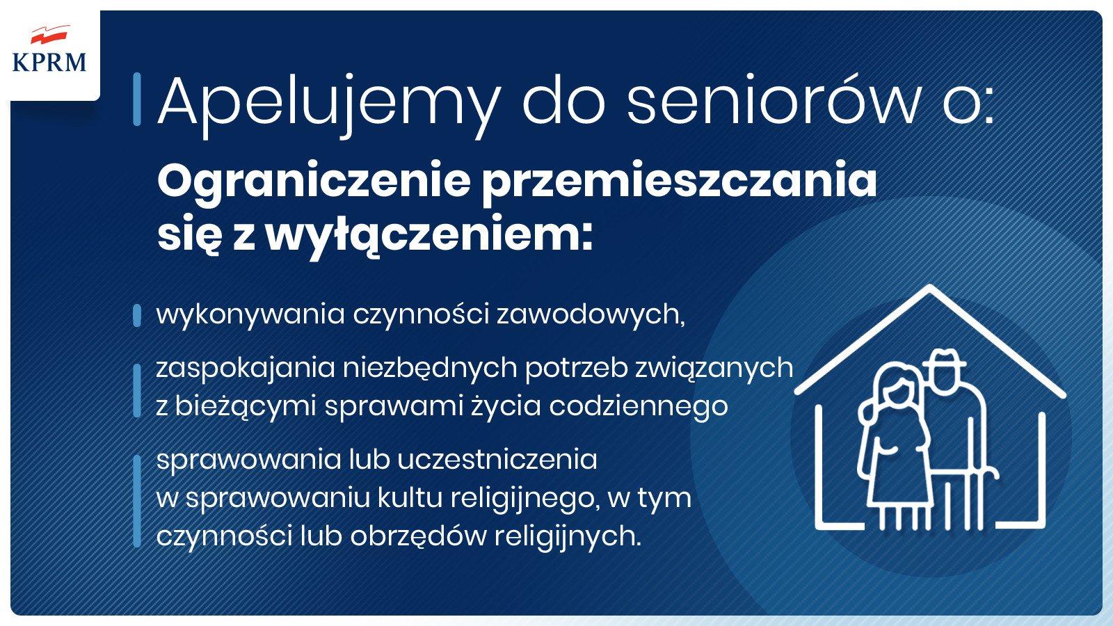 Apel do seniorów, by zostali w domu.
