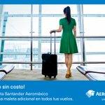 Image for the Tweet beginning: Adquiere tu Tarjeta Santander Aeroméxico