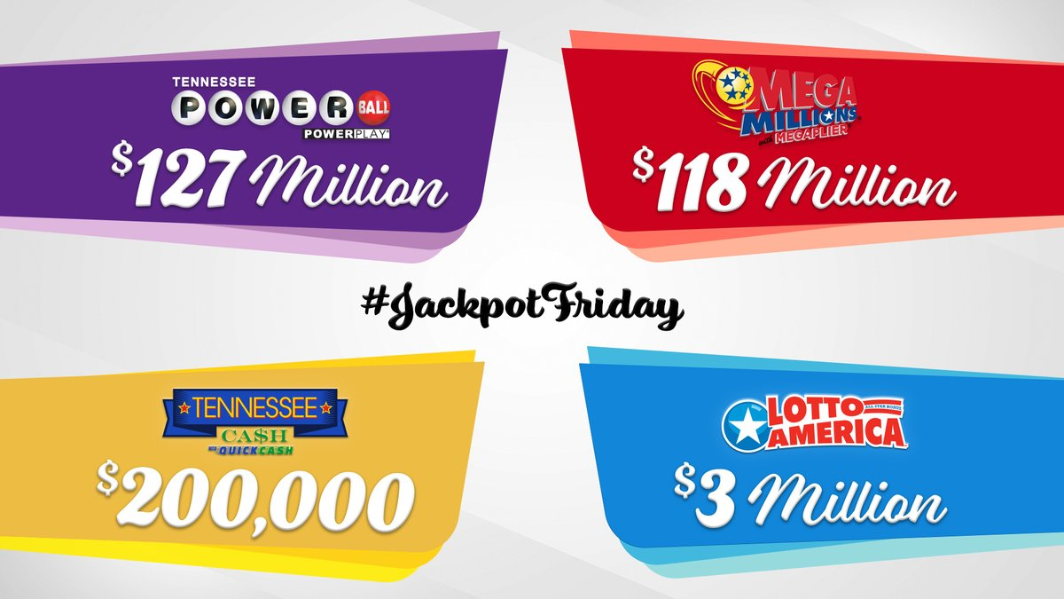 Check out the latest jackpot updates for #JackpotFriday! You could be our next winner!  #Powerball  #MegaMillions  #LottoAmerica  #TNCash https://t.co/HI19gdgx6o