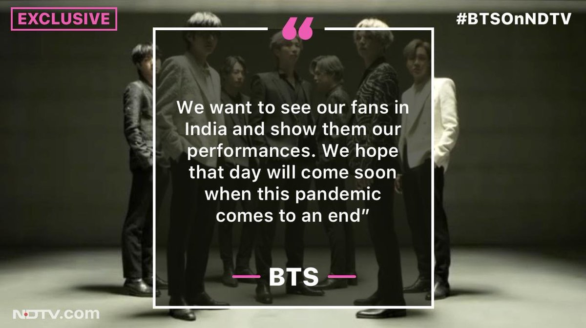#BTSOnNDTV | Exclusive: The big question – when will @BTS_twt come to India? #WatchBTSOnNDTV @bts_bighit @BTSW_official