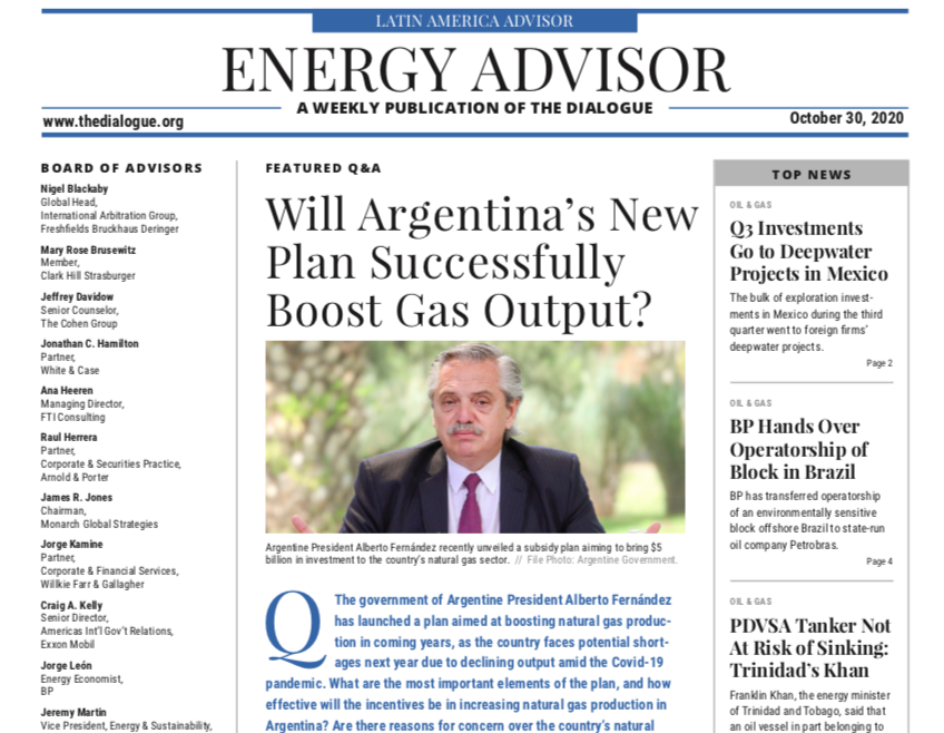 """""""[#Argentina's] plan [to boost gas output]...is a subsidy for domestic residential demand and electricity generation, which is why it's encouraging."""" Roberto Carnicer  @achambouleyron, @flor_balestro, @megan_cook2 & @isalacuerva #EnergyAdvisor  https://t.co/KJSVzhzDjU https://t.co/TYROFQ5IIk"""