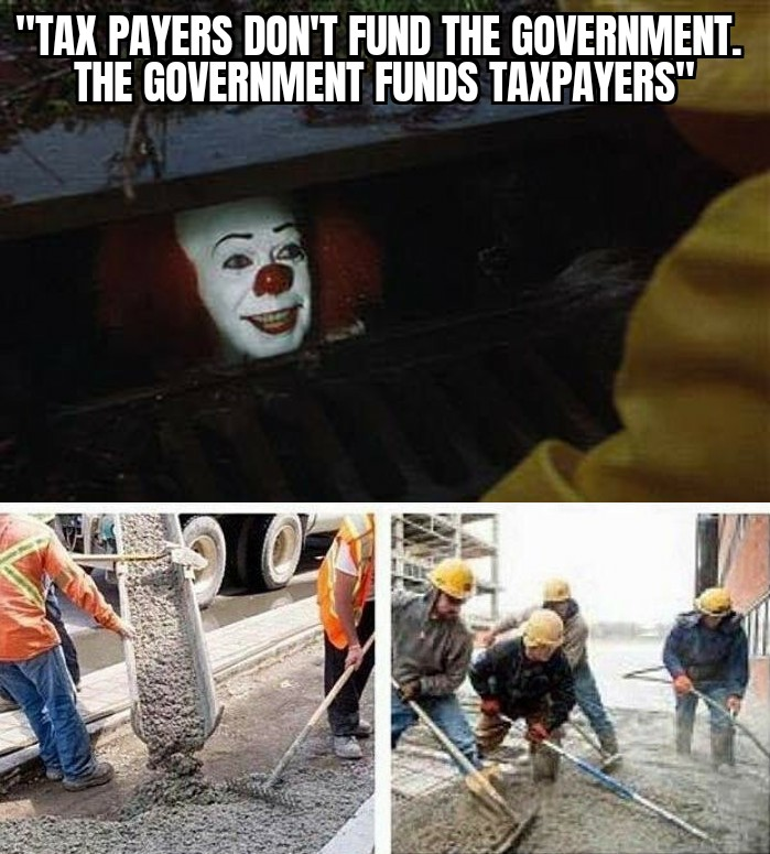 stephanie kelton saying the government funds tax payers