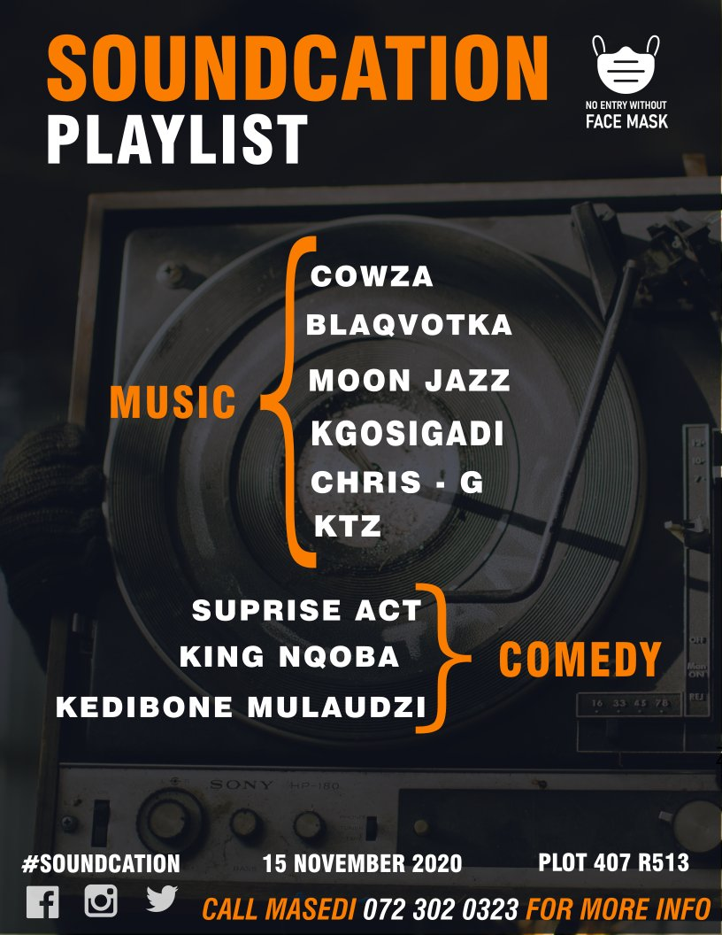 These are the caterers of Sound 🙏  #Souncation #Pretoria #House #laughs. #Jazz #Mzansi #deephouse #events #November #sundayvibes #Sunday https://t.co/TV6O0vke63