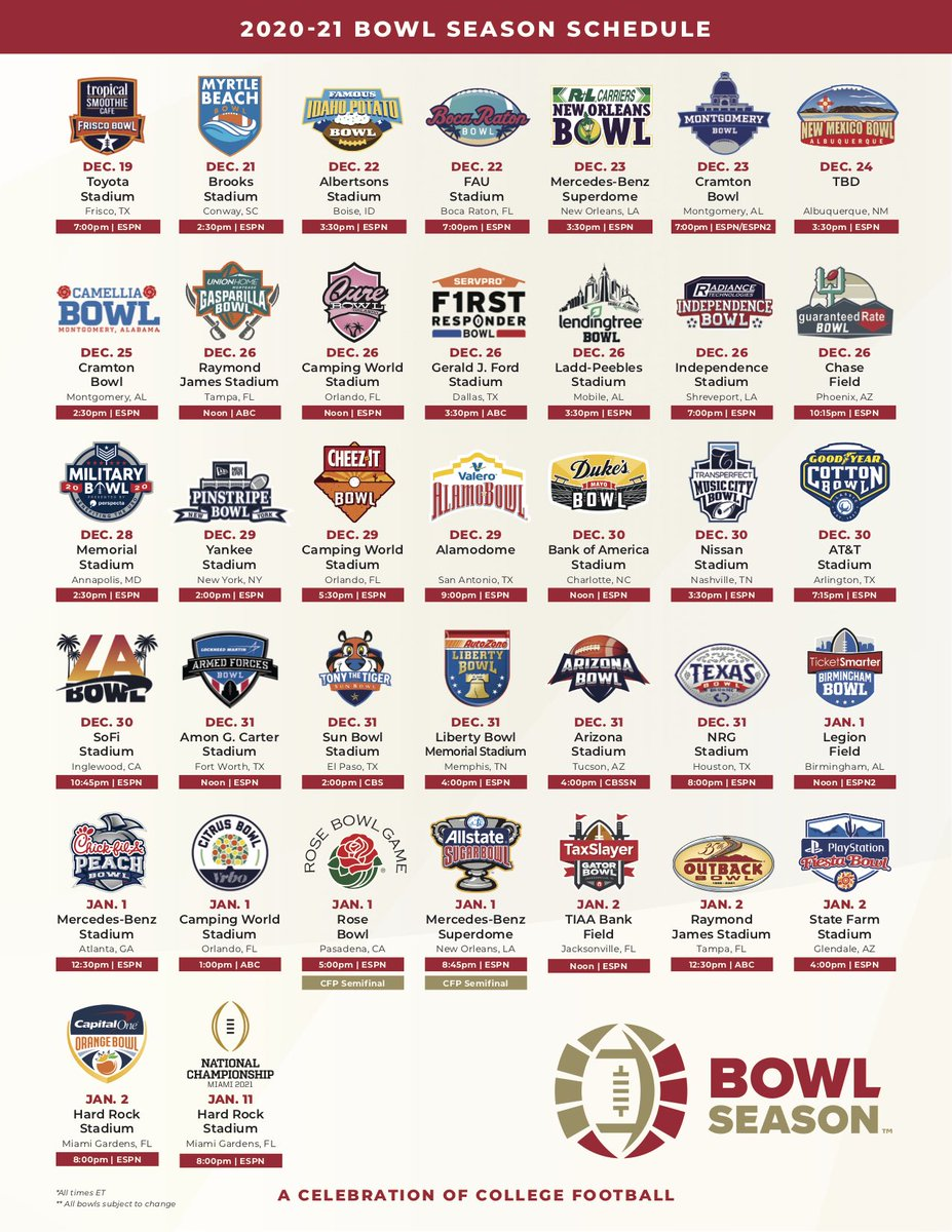 Looking forward to #BowlSeason with an incredible line-up of games!!  ICYMI: The TaxSlayer Gator Bowl will help finish out bowl season on Saturday, January 2nd at Noon (EST) 🏈