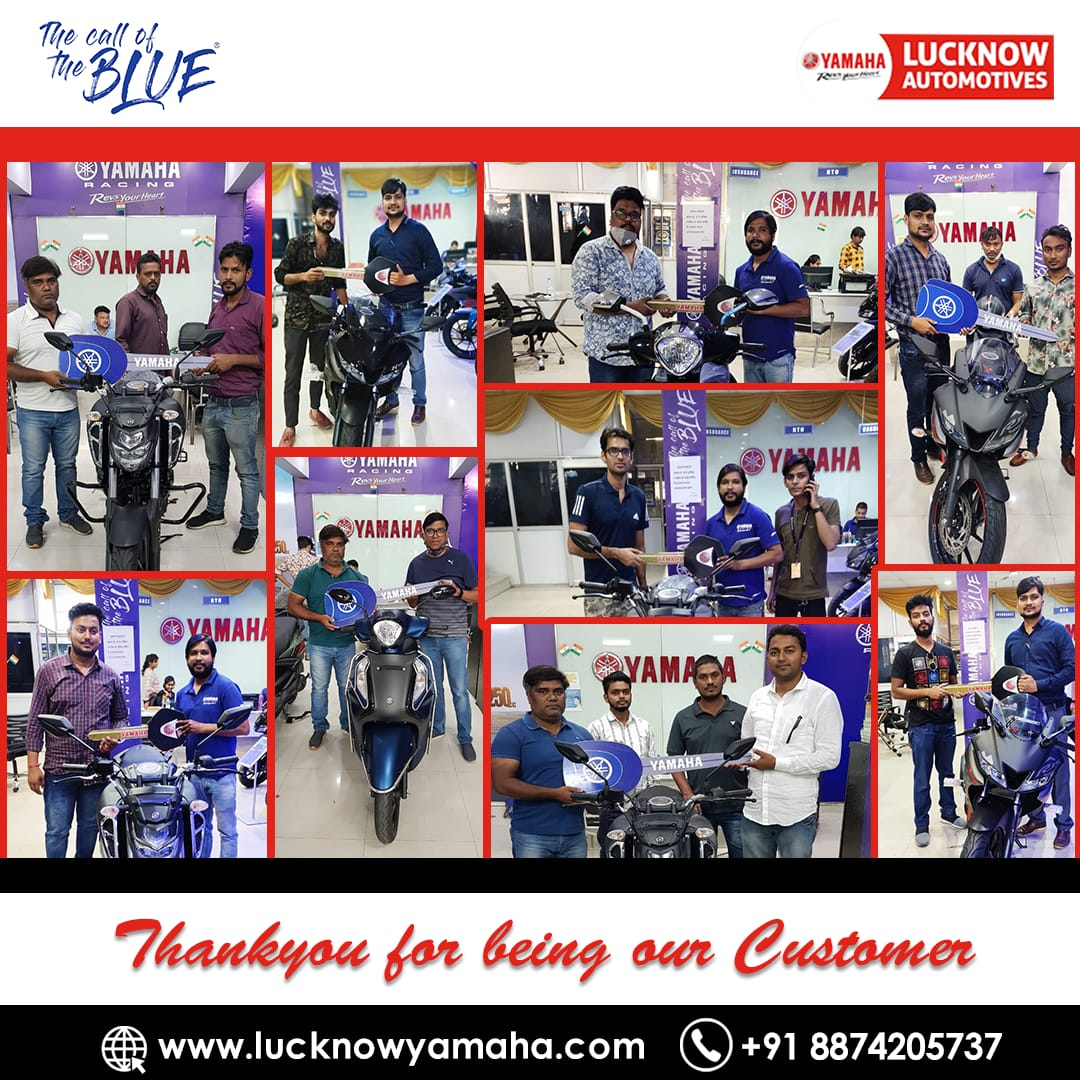 Thank you for your purchase and for being valued customers of @India_Yamaha. We hope you are happy with the purchase and your experience with us was awesome.  Call Us📲:- +91 8874205737 #Lucknow #lucknowbikers #FridayMotivation #yamaha