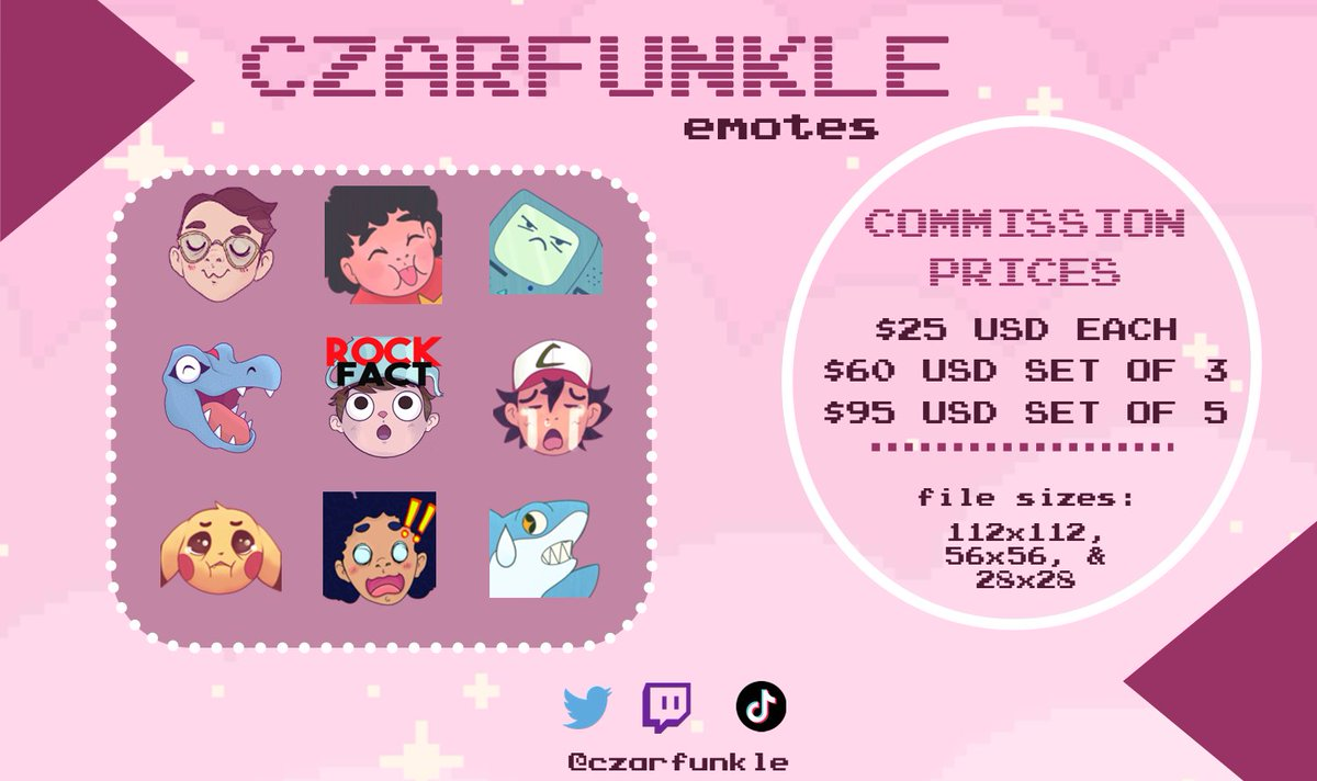 A reminder that my commissions are open for business! I mostly do emotes for Discord and #Twitch but I'm also able to do half and full body characters! E-mail or DM me for inquiries! #ArtistOnTwitter #CommissionsOpen #DigitalArt #TwitchStreamers https://t.co/n8sDBR21cD