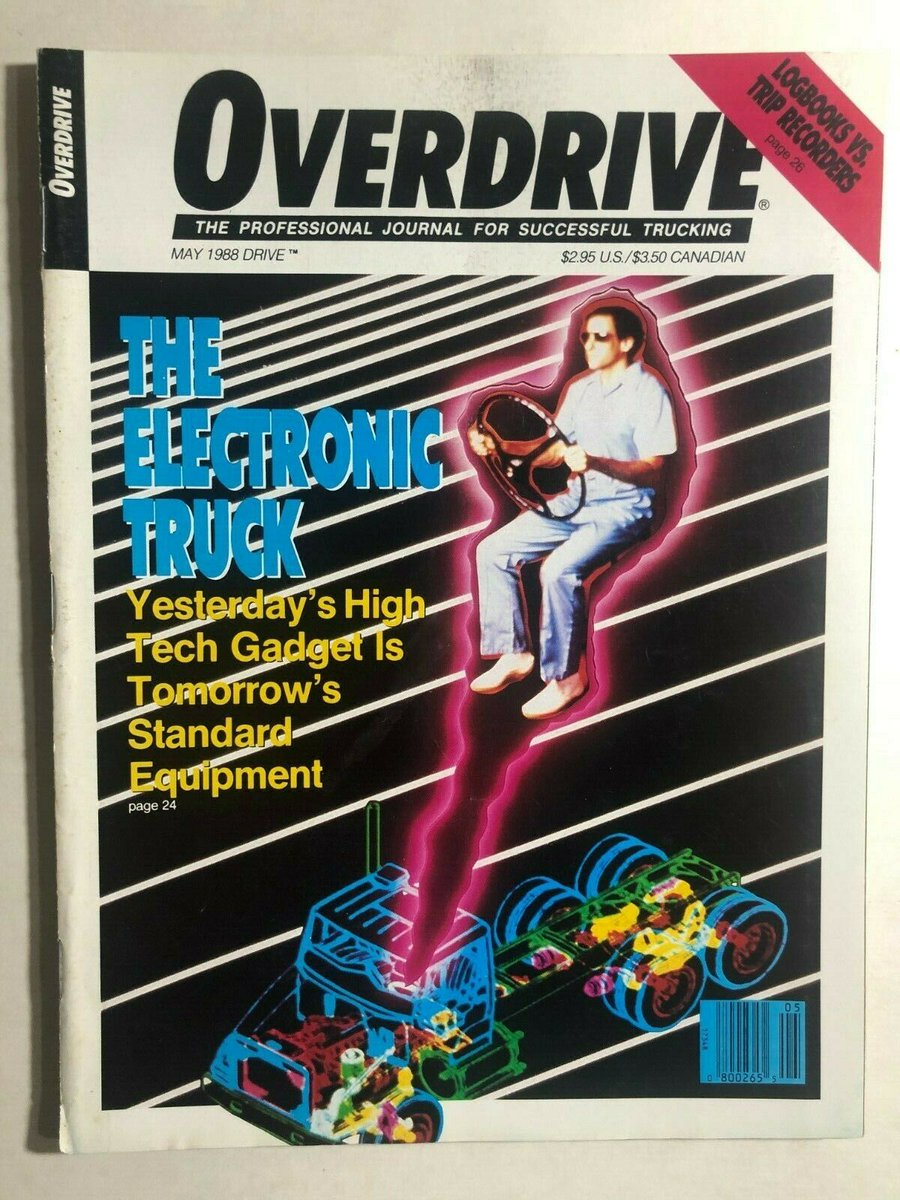 Happy Flashback Friday! Today, we're going back to May 1988. Did @OverdriveUpdate  have a crystal ball? We have to admit, they did see the future of #trucking! Well, close enough! #FlashbackFriday #tech https://t.co/6fgO93dI77