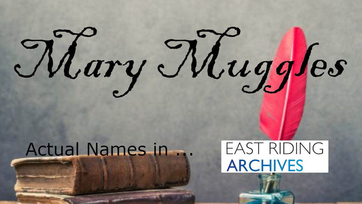 #ActualNames From Our #Archives:  ... last week we brought you Harry Potter at a school in Sherburn, but it seems 18th century Humbleton was just full of Muggles. 😉 ...  -  Mary Muggles  - (from #Humbleton baptism register 1778, ref PE68/4)  #ExploreYourArchive #names https://t.co/4GBJg4v6ZF