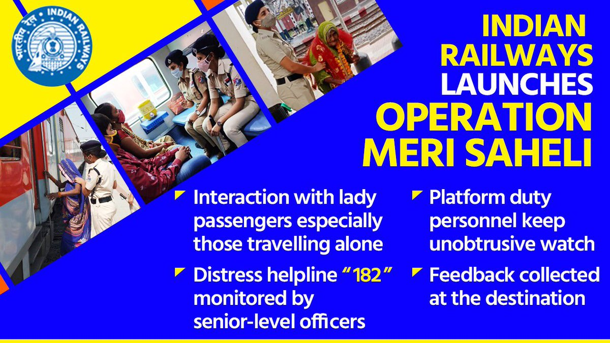 Great initiative by #RPF focusing on the security of women travelling by trains & making their journey more comfortable.  @PiyushGoyal @RailMinIndia  #MeriSaheli #WomenSecurity #indianRailways https://t.co/JCJ5A6N0tn