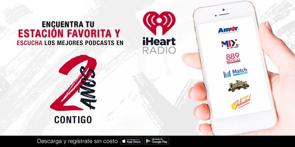 @iHeartRadioMx cumple dos años contigo. La aplicación oficial y el mejor lugar para escuchar @MixMxOficial. Con grandes emociones transmitidas a través de la música, las estaciones y los podcasts.  Si aún no la descargas, no esperes más. https://t.co/RXlkuuzi2W