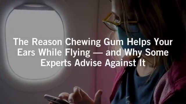 Image for the Tweet beginning: The reason chewing gum helps