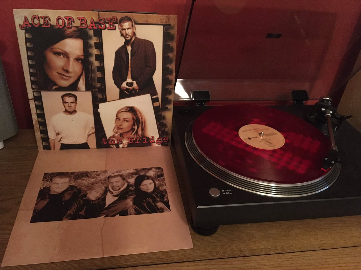 """#NowPlaying Ace Of Base """"The Bridge"""". 🇬🇧#66 album from 1995. Singles: Lucky Love 🇬🇧#20 Beautiful Life 🇬🇧#15 Never Gonna Say I'm Sorry #AceOfBase #90s #RedVinyl https://t.co/6mqJO8RaoM"""
