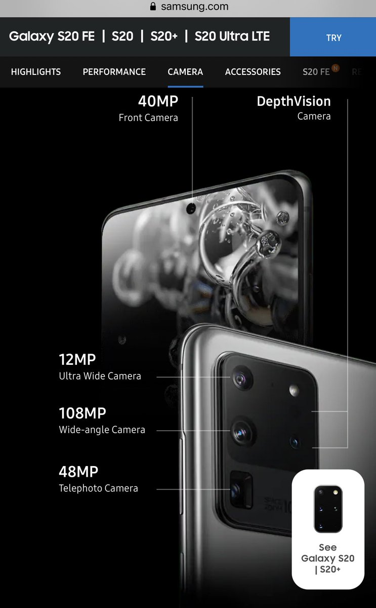 Look at the camera features! #GalaxyS20FE https://t.co/rZTv9ePr3x
