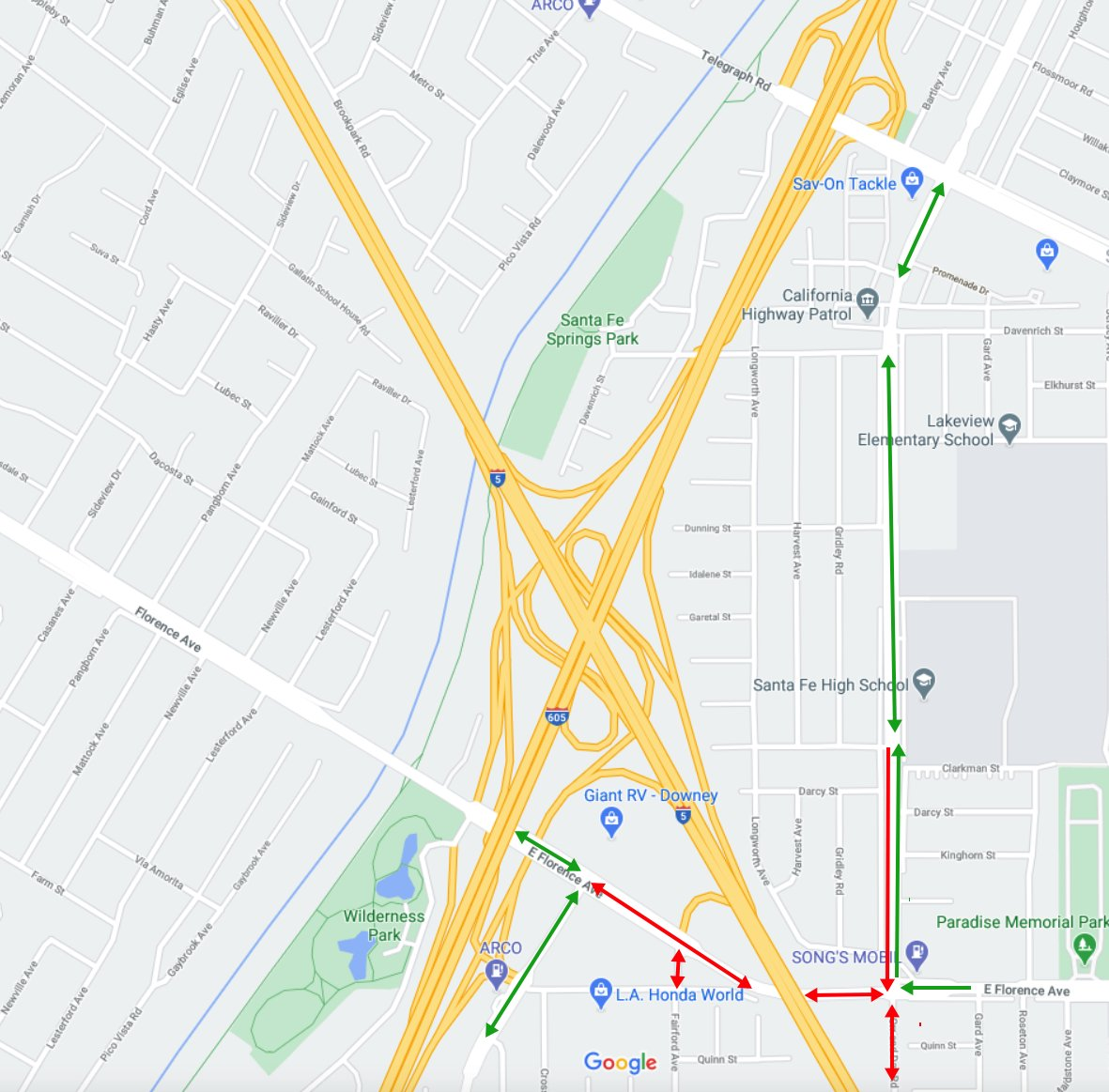 Florence Ave. scheduled to be closed from Gard Ave. to Studebaker Rd. the nights of Mon 11/2, Wed 11/4, Thursday 11/5, and Fri 11/6 to move K-rail & pour asphalt. For more details go to: https://t.co/YMJWFOMNcB https://t.co/oqAOboMc1P