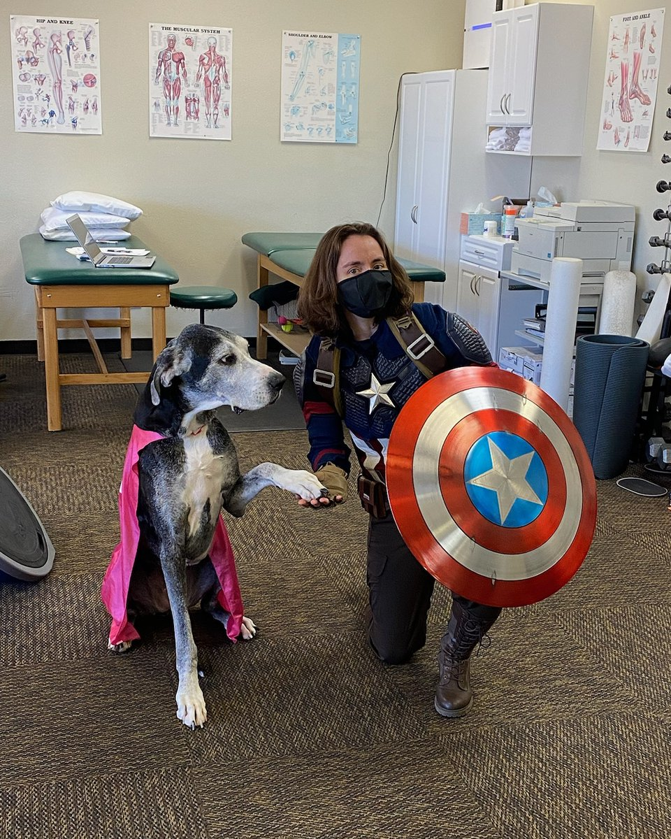 Happy Halloween from Superdog and Captain Peggy Carter. #SuperJusticeFriendsLeague