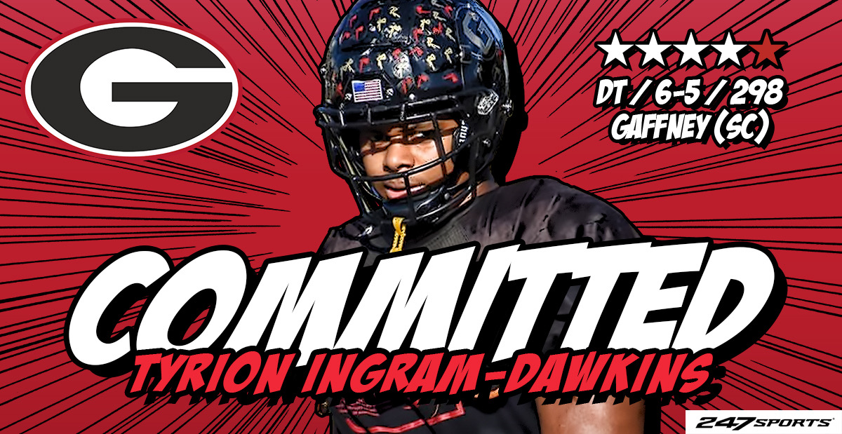 """BREAKING: Top247 DT Tyrion Ingram-Dawkins commits to #Georgia adding to the a class ranked No. 6 nationally by @247Sports. """"They're getting better every year. It's great right now and it's only going to get better."""" 247sports.com/Article/Georgi…"""
