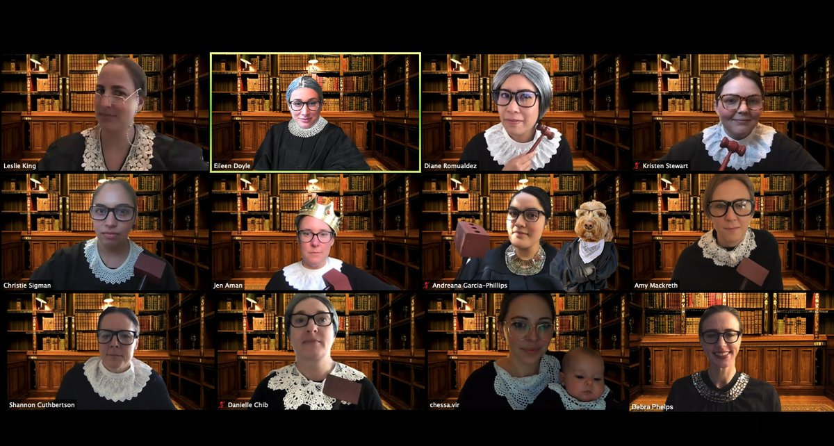 Our field marketing & events team took meetings to another level by honoring the late Ruth Bader Ginsburg.  Did you catch any special guest appearances in the photo?  #VOTE https://t.co/n8WC7VZoE1