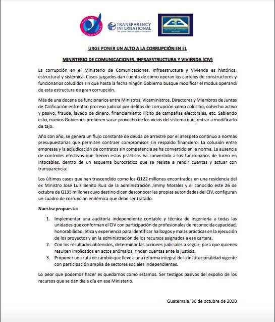 test Twitter Media - Acción Ciudadana y la Asociación de Jubilados del Colegio de Ingenieros, emiten un comunicado de prensa en el que manifiestan la urgencia de poner fin a los actos de corrupción en el Ministerio de Comunicaciones. https://t.co/kPj9n68Bgs