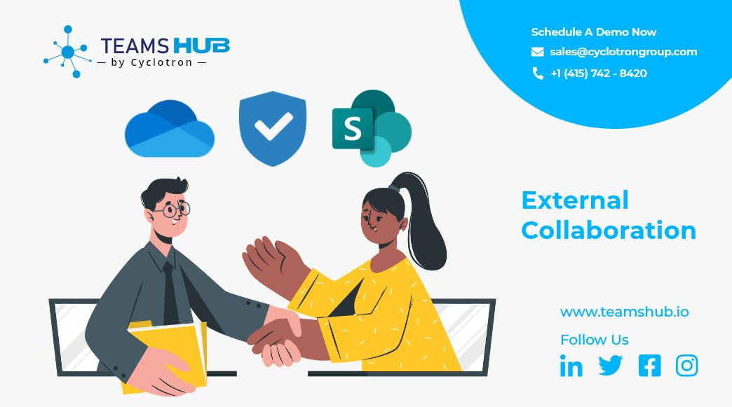 Adopt #TeamsHub by #Cyclotron to #secure #external #collaboration in #SharePoint & #OneDrive  -Prevent #data loss -Comprehensive #compliance & #policies -Access #insights  Read more- https://t.co/0dUl4azSRH  #Microsoft #Azure #security https://t.co/FyZzvmJ7fd