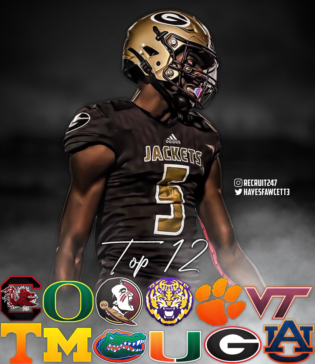 BREAKING: 4 🌟 TE Jaleel Skinner is down to 1️⃣2️⃣ Schools  The 6'5 210 TE from Greer, SC is a Top 85 Player in the Class of 2022 (#1 TE)  Where Should He Go?🤔